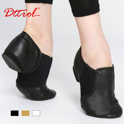 Dttrol free shipping hot sale Children genuine leather stretch dance jazz Shoes D004716(China (Mainland))