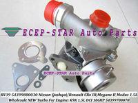 BV39 54399880030 54399700070 ECEP TURBO Turbocharger For Nissan Qashqai / Renault Clio III Megane II Modus 1.5L DCI 106HP K9K