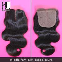 Silk Base Closure Brazilian Hair Body Wave 100% Human Hair Wigs No Shedding No Tangle With Shipping Free