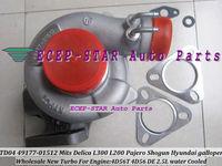 TD04 49177-01512 3 Holes water cooled Turbocharger For Mitsubishi Delica L300 L200 Pajero Shogun Hyundai galloper 2.5L 4D56 DE
