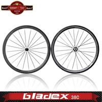 BladeX PRO ROAD CARBON WHEELSET 438C -  Ceramic Bearings; Basalt Braking Surface; 38mm Clincher Carbon Wheels;road bike wheels