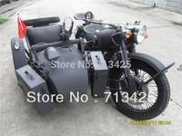 Cool Military theme Classic CJ750cc Matted Black Motorcycle Sidecar Bike