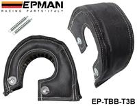EPMAN T3 turbo blanket (Glass fiber) Black fit: t2,t25,t28,gt30,t35,and most t3 turbine housing turbo charger  EP-TBB-T3B