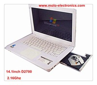 "13.3"" laptop computer with DVD-ROM RW engraver Intel D2500 notebook WIFI webcam optional for 4GB & 500GB"