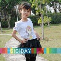 summer new fashion cartoon beauty design kids t shirts girl baby clothing short-sleeve children T shirt girls tops K0146