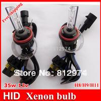 Free Shipping!! 2pcs xenon HID bulb AC H8/H9/H11 3000K 4300K,5000K,6000K 8000K...30000K