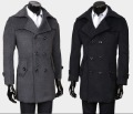 best selling mens outerwear wool overcoat Mens slimming fit winter long double-breasted jackets wool trench coats