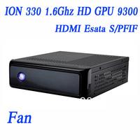 Atom ION 330 1.6Ghz,1G RAM, 80G HDD/16G SSD, mini thin client pos ktv thin client HDMI hardware decode HD GPU 9300 IN-330H
