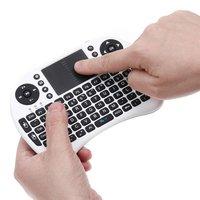 Rikomagic 2.4G Wireless Keyboard with touch pad,Qwerty wifi keyboard[i8]