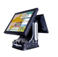 Best  Quality   Dual  Screen Rotatable  Adjustable   15 Inch  Touch POS System With  Cash Drawer And  58MM Printer