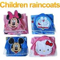 Free Shipping funny catoon plastic animal children girl boy Kids  raincoats raincoat rain coat poncho Rainwear Rainsuit FSWOB