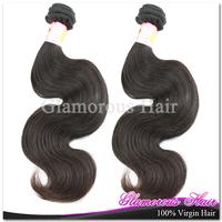 2pcs/lot  Hot selling 100% virgin Brazilian body wave hair weft 10'' to 34''