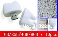 Bulk Price 10pcs/lot X 1GB/2GB/4GB/8GB/ USB Flash Drive Promotion BestGifts Tooth Pen Drive USB Stick Free Shipping