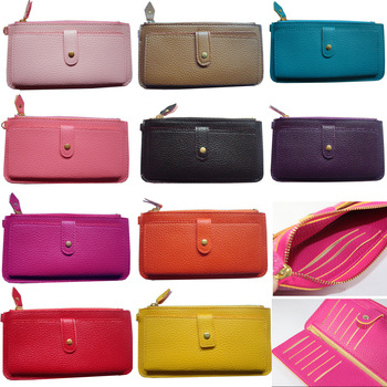 HOT SELLING 11 colors fashion brand wallets women, leather purses women black(WX03)