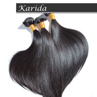 Brazilian virgin hair straight,Karida 4 bundles 5A grade Unprocessed human hair extension,Soft and Dyeable,DHL free shipping.