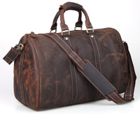 Simple Design Leather Luggage Bag Men Women Large Capacity  Travel Bag Vintage Outlook Laptop Tote Men Gym Duffle 30613