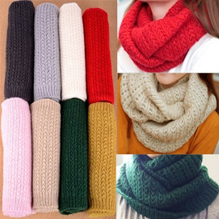 30% OFF! Loss! winter male scarf female pullover warm mohair knitted crochet scarf solid winter scarf SC0330
