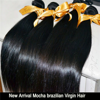 "Mocha: 7A Unprocessed 10''-28"" 4pcs/Lot Virgin Brazilian Natural Straight Hair Remy Hair Weave Wholesale Tangle Free No Shedding"