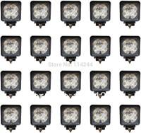 Free shipping  20pcs 27W flood LED Off road Work Light Lamp 12V 24V for car Truck 4WD 4X4