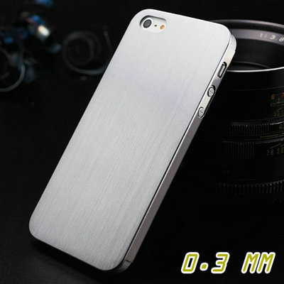 0.3MM Thin Brushed Aluminum Hard case for iphone 5 5S 5G Luxury 100% Metal, Mesh back cover for iphone5s 2013, 2 styles(China (Mainland))