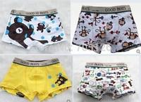 Free Shipping Kids Boys Cartoon Boxers Panties Cotton Children's Cartoon Winnie Underwears Briefs 12pcs/lot