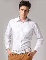 Freeshipping Autumn winter white black striped man gentleman men's Business casual slim fit cotton shirt  top FZ-M002-50ST5