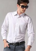 Freeshipping Spring Autumn white striped man gentleman men's Business casual slim fit stylish cotton shirt top FZ-M002-50ST2