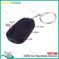 100Pcs Lot , 808 Car Keychain Mini Hidden Camera with Video Recorder 720x480 , DHL Free Shipping