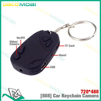 100Pcs/lot  808 Car Key Mini Hidden Cam Recorder DVR MICRO CAMERA Keychain DV by DHL Free Shipping