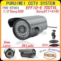 """Special offer 100% Original 1/3""""Sony Effio-e 700TVL 36led with OSD menu Indoor/Outdoor security IR CCTV Camera with bracket."""