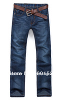 Kingtime Freeshipping   New Brand Men's Pants Jeans Straight  Fashion  Blue Chinese Size:28-38 KTA01