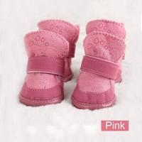 Wholesale 5Sets/Lot Lovely Warm Dog Shoes Cotton Pet Shoes Snow Boots 2Colors 5Sizes Free Shipping 9361