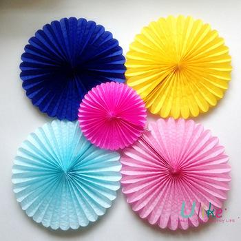 10'' 100ps Free shipping Honeycomb  Flower lantern Fan design paper lanterns foldable lantern Tissue fans Craft idea Cute Party