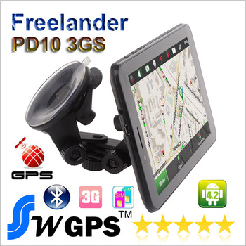 car GPS 7 inch car gps Android4.2 MTK8312 dual Core GPS navigation bluetooth 3G DVR WIFI 1024*600 512MB+4GB with world maps
