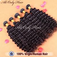 Malaysian Curly Virgin Hair Deep Curly 4Pcs Lot,Grade6A Malaysian Deep Curly Natural Black Hair 8-30Inch,100%Human Hair Weaves