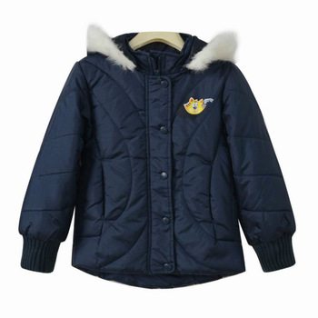 Freeshipping Autumn winter dark blue Children Child girl Kids baby boy hoody hooded cardigan coat jacket outwear top 0140