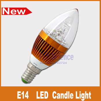 ultra bright E14 3W LED candle bulbs smd high power  Crystal  chandelier lamp