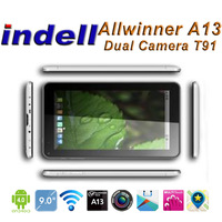 Dual camera 9 inch tablet pc Allwinner A13  Android 4.0 capacitive touch screen 512MB 8GB  webcam tablet pc T91
