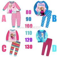 Girls Frozen Clothing Sets 2014 New Clothing set Baby girls Summer Sofia princess 2-piece Suit Set Elsa Anna From Frozen