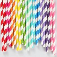 Wholesale1000pcs Green Drinking Paper Straws Circle Striped Chevron Polka Dot Heart Solid Party Favor Craft Artstraws Bulk