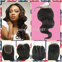 "Free Shipping Brazilian Middle Part Virgin Hair Closure Virgin Wave,Top Lace Closure 4x4""Hair Closure Virgin Queen Hair Products"