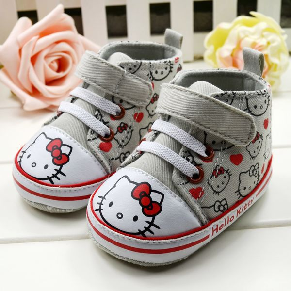Free shipping!one pair for retail,drop shopping!hello kitty baby shoes,new born baby prewalker,girls shoes(China (Mainland))
