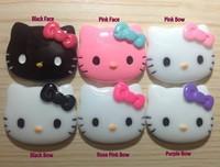 Resin Hello Kitty Face Cabochon Flatback Decorative Kits 27*22mm