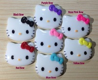 Mix-color Hello Kitty Cabochons Resin Flatbaclk Decorations for DIY