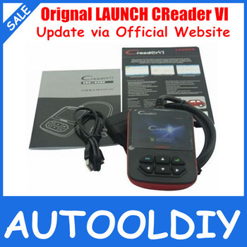 Top Selling 2013 Free Shipping Lowest Price100% Original Update Online Launch Creader 6 OBD2 Code reader,Color screen CReader VI