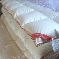 Export quality ecological certification mulberry Silk fabric goose down comforter duvet  95% goose down comforter winter spring