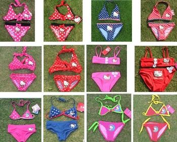 Hello Kitty baby girls swimsuits girl's bikini swimwear new design chlidren swimsuits