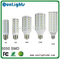 6w 9w 12w 15w 20W 30W LED 165/102/84/60/44/36pcs SMD 5050 LED corn lamp lights 220V/110V E27 E14 B22 Cold/warm White bulb