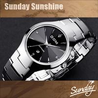 DOM Brand luxury full Tungsten steel casual quartz watch dress men & women dive watches relogio masculino designer wristwatches