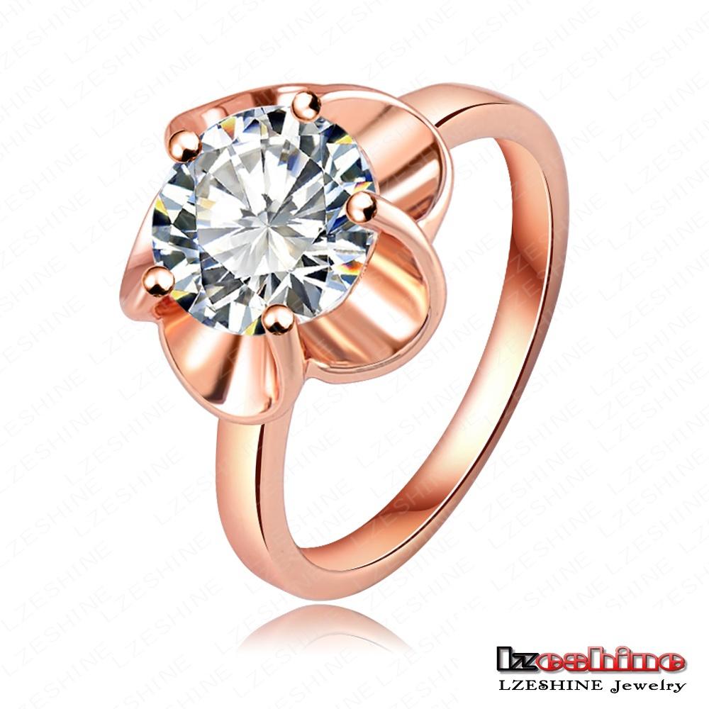 Popular 18K Rose Gold/Platinum Plate Austrian Crystals Flower Ring Druzy Ring Women 23*12mm RIC0013(China (Mainland))